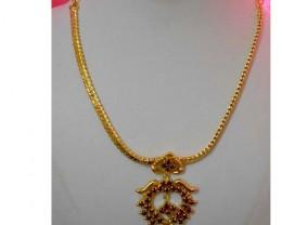 Gold Polishing CZ Polki&silver mix alloy Necklace Design wor