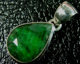 EMERALD SILVER PENDANT 46 CTS  AS-A3693