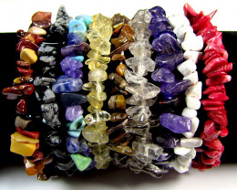 SUNDAY PST NIGHT TRADE PARCEL 9 GEMSTONE BRACELETS RT2