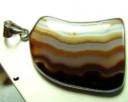 AGATE SILVER PENDANT -SILVER  51 CTS  AS-A3824
