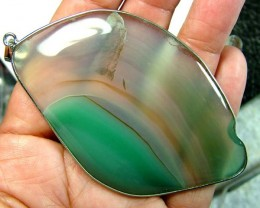 AGATE SILVER PENDANT -SILVER  130 CTS  AS-A3826