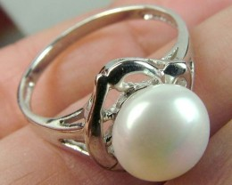 PEARL RING /SILVER 14.35  CTS SIZE -9 AS-A3843