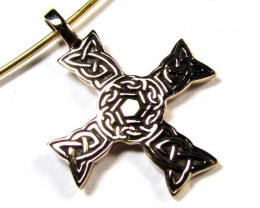 BRONZE CROSS PENDANT RT 251