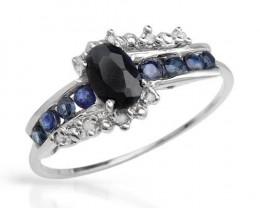 .80CTW OF DIAMONDS AND SAPPHIRES IN WHITE GOLD RING