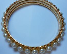 Nice Designer Bangle Bracelet Kada Pearl SuperbHandmade 2.10