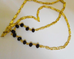 Slim Link design Goldpolished FANCY Crystal Chain Necklace