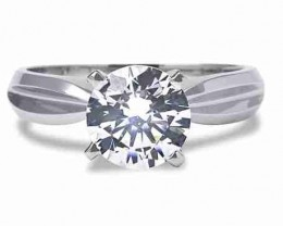 NATURAL 18K WHITE GOLD SOLITIARE-1.10CTW SIZE  DIAMOND RING