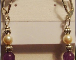 Masami Pearl & Amethyst Earrings -