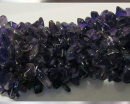 Imperial Color Amethyst Chip Bracelet~One Size Fit's All