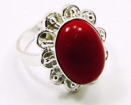 Designer CARNELIAN &. Silver Rings Of UK Size: Q & US: 8 ,NR