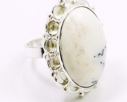 Stunning SOLAR QUARTZ & Silver Rings Of UK Size: O & US: 7