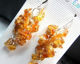 CITRINE EARRINGS GRAPE DESIGN  50 CTS  AS-A 5352