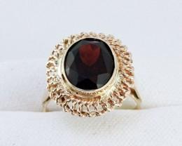New Australian Garnet 9Ct Gold Ring