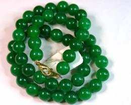 11MM  JADE BEAD STRAND   11 151