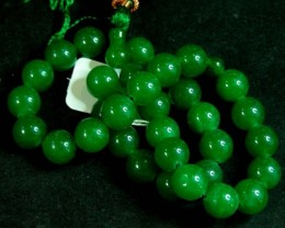 11MM  JADE BEAD PRAYER  STRAND   11 144