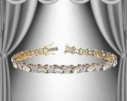 $1 No Reserve! 0.82 Diamond 18K Designer Bracelet $805.00