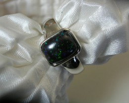 "925 SILVER RING set with ""FAIRY"" OPAL MATRIX Ring Size US7"