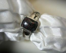 "925 SILVER RING ""FAIRY"" OPAL MATRIX Ring Size 8 #LMJ4"