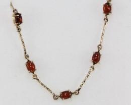 Australian Garnet set in a gold Bracelet