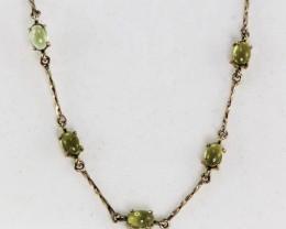 Australian Peridot set in a gold Bracelet