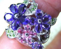 AMETHYST SPI SILVER RING 50.4 CTS SIZE- 7.5  RJU-30