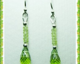 Quality Pakistani Peridot .925 Silver Earrings Z7