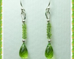 Quality Pakistani Peridot .925 Silver Earrings Z9