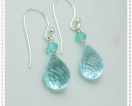 Quality Blue Topaz .925 Silver Earrings Z18