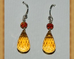 Quality Brazil Citrine .925 Silver Earrings JW10
