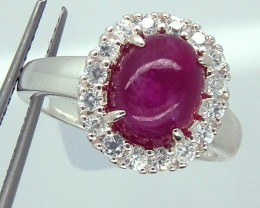 RUBY  SILVER RING 28  CTS  SIZE-9.25 RJ-209