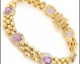 Fine Jewelry Sale 12.19 CT Amethyst & Diamond Bracelet $765