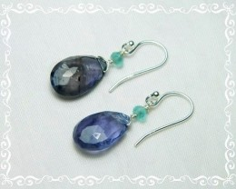 Quality African Iolite .925 Silver Earrings Z41