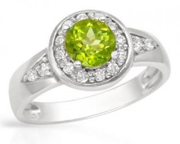 Apple Green Peridot ~ Size 8 or 7 ~ Your Choice ~ 925 SS