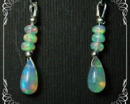 Quality Multicolor Welo Opal 925 Silver Earrings JW36