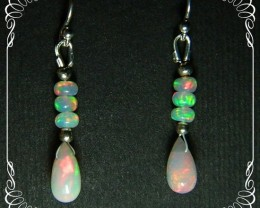 Quality Multicolor Welo Opal 925 Silver Earrings JW37