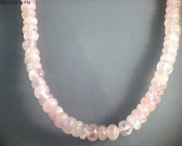 Creamy Pink Morganite Rondelle Strand 410 mm (A403)