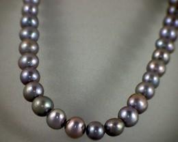 Stylish ! Biwa Black Pearl Strand ! Very eye catchy ! (A346)