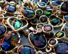 Wanted Opal Re sellers 12 Mosaic Opal Gold P Pendants ML