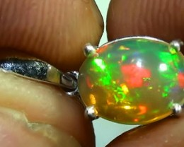 Stunning Natural Rainbow Opal 925 Silver Ladys Pendant RN-5