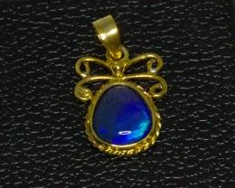 Australian Opal set in Gold Plated Pendant