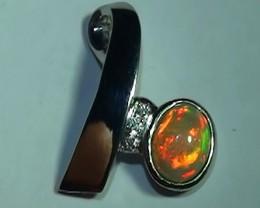 7.50ct Stunning Neon Rainbow Opal 925 Silver Pendant RN-5