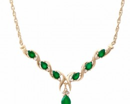 7.69 CT Emerald & Diamond Necklace $865