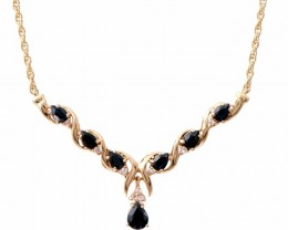$1 No Reserve 7.69 CT Sapphire & Diamond Fine Necklace $825