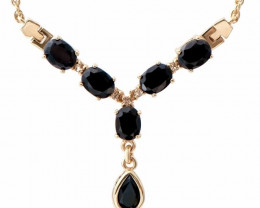 Designer Jewelry 7.19 CT Sapphire & Diamond Necklace $795
