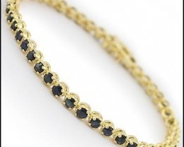 10.02 CT Black Sapphire Tennis Designer Bracelet $665