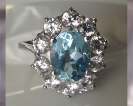 An Incredibly Beautiful Swiss Blue Topaz ~ 30% Disc from BIN