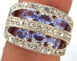 TANZANITE  SILVER RING  32.15 CTS  SIZE-6    RJ-215