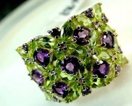 AMETHYST  SILVER RING  41.10 CTS  SIZE-7.50    RJ-633