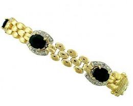 12.19 CT Sapphire & Diamond Fine Designer Bracelet $835