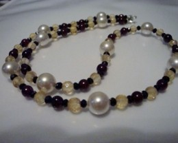 NEW! MIXED 18 INCH GENUINE GEMSTONE NECKLACE